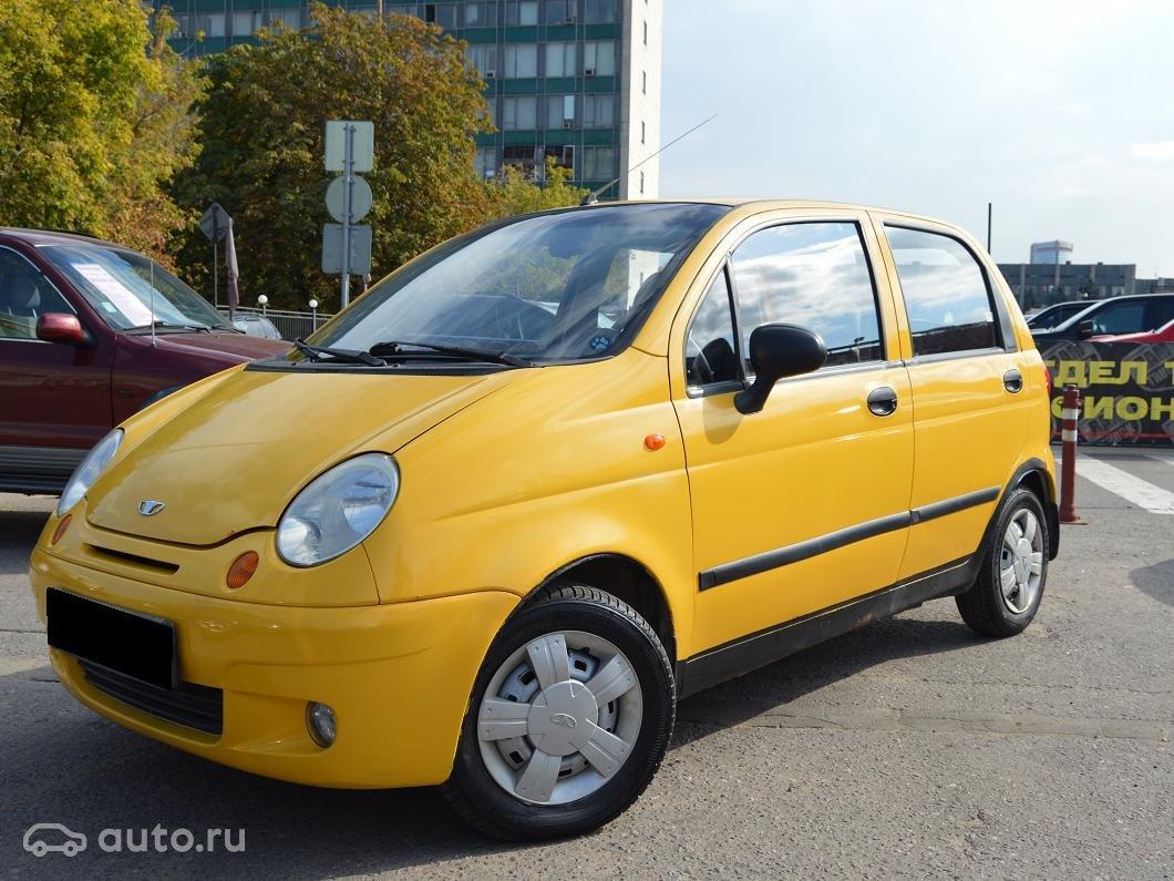 фото део матиз желтого цвета 2008