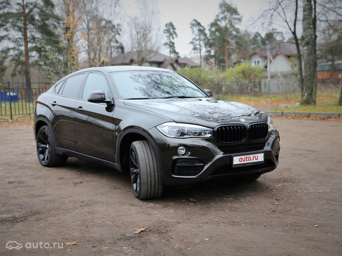 2015 BMW X6  II (F16) 30d, коÑиÑневÑй, [object Object] ÑÑблей
