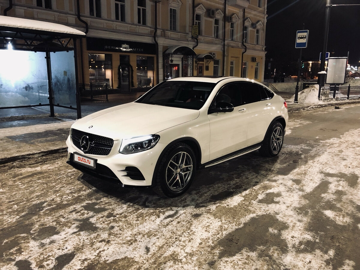 2017 Mercedes-Benz GLC Coupe  I (C253) 300, белый, 3300000 рублей