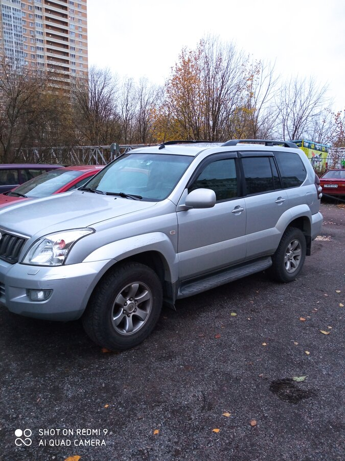 2008 Toyota Land Cruiser Prado  120 Series Рестайлинг 5-speed, бежевый