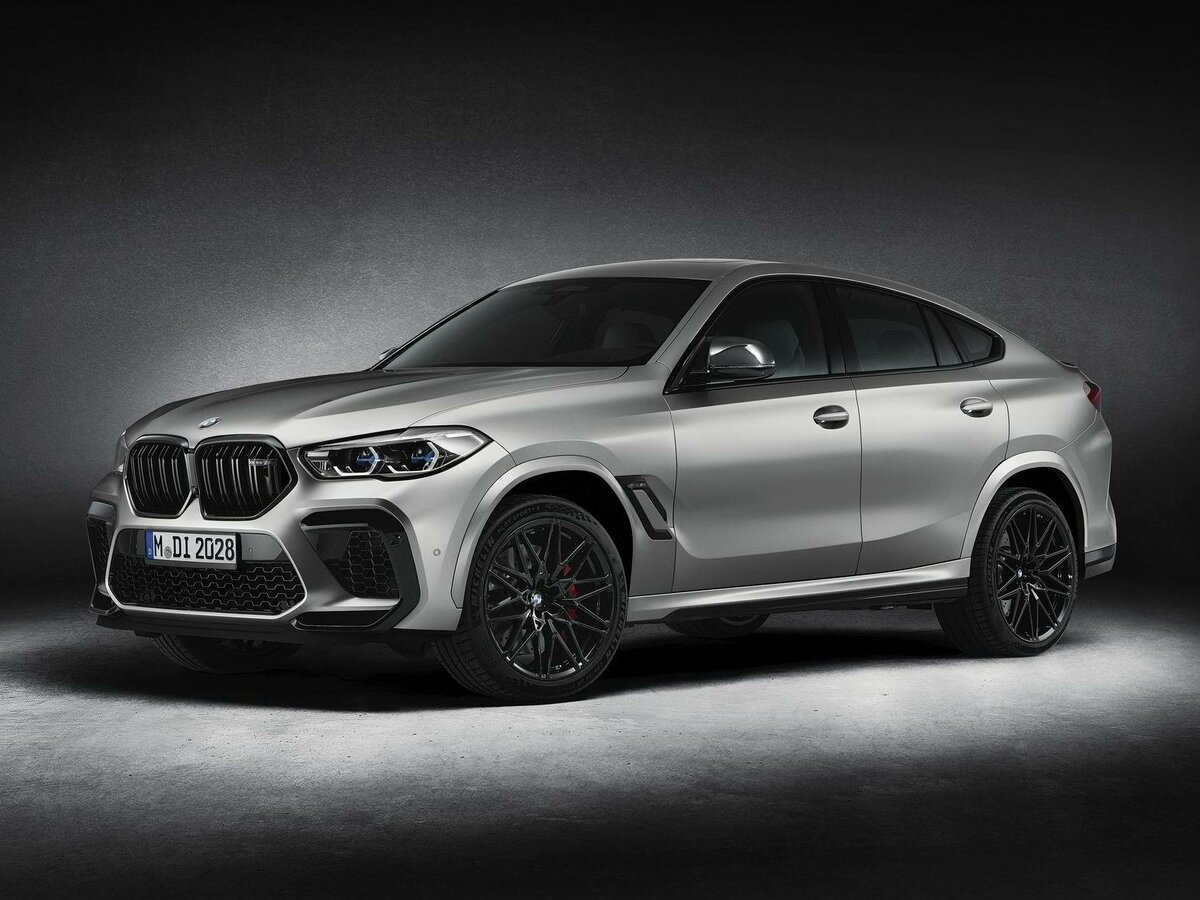 2021 BMW X6 M  III (F96) Competition, серебристый