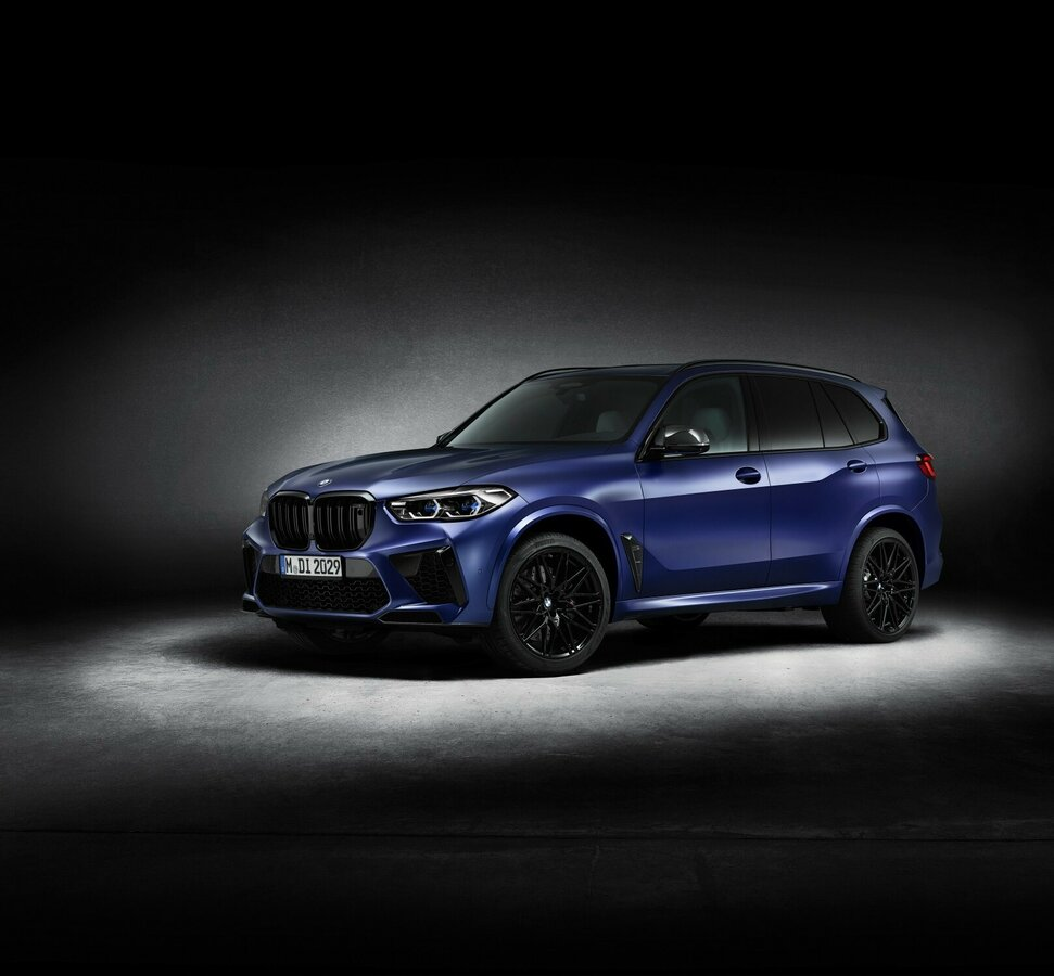 2021 BMW X5 M  III (F95) Competition, синий