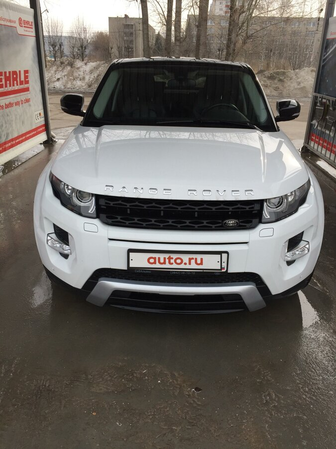 2013 Land Rover Range Rover Evoque  I 9-speed, белый, 1949000 рублей - вид 1