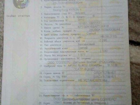 Купить SsangYong Kyron пробег 87 000.00 км 2010 год выпуска