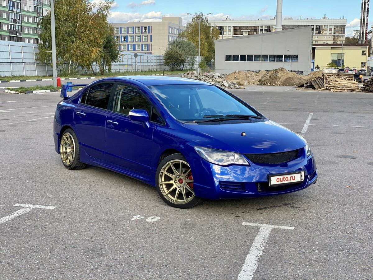 2006 Honda Civic  VIII, синий - вид 2