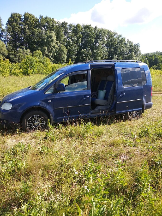 2009 Volkswagen Caddy  III, синий - вид 3