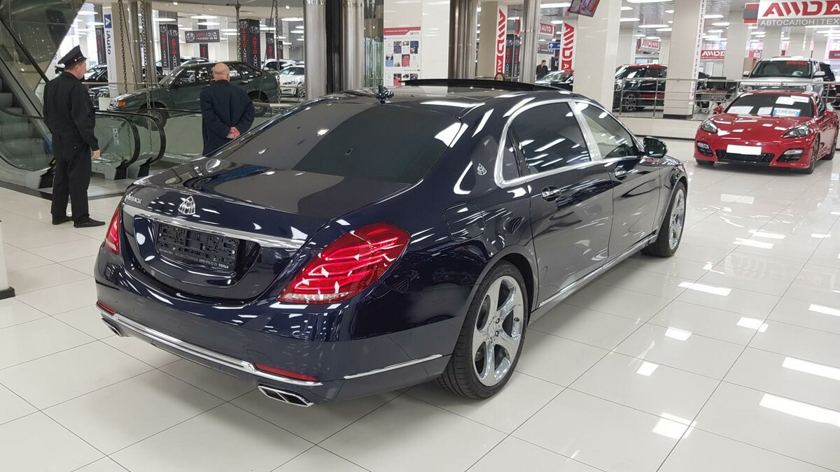 2015 Mercedes-Benz Maybach S-Класс  I (X222) 500, синий, 4492000 рублей - вид 4