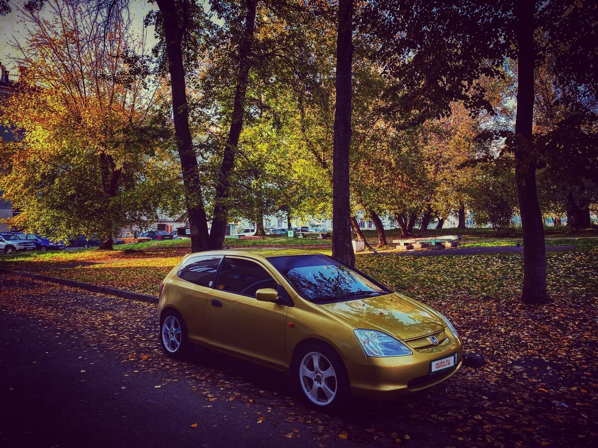 2001 Honda Civic  VII, жёлтый