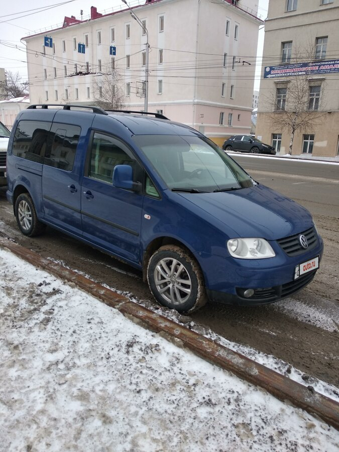 2009 Volkswagen Caddy  III, синий - вид 1