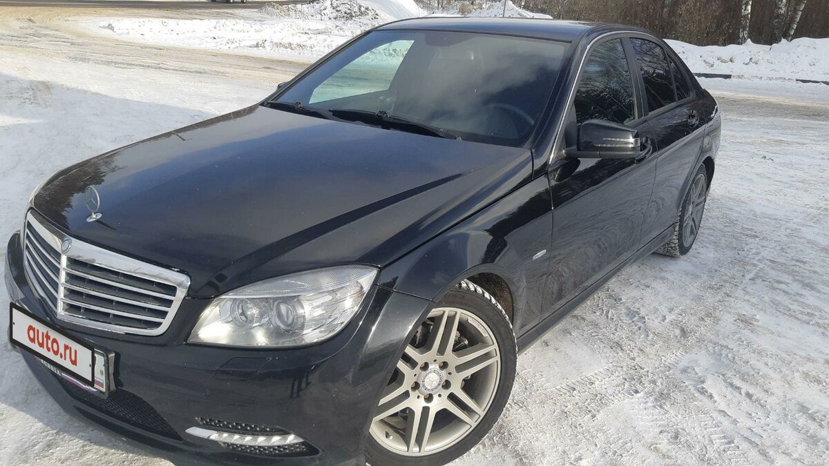 2011 Mercedes-Benz C-Класс  III (W204) 180 BlueEFFICIENCY, чёрный