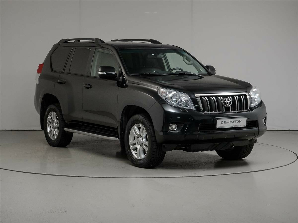 2012 Toyota Land Cruiser Prado  150 Series, чёрный - вид 2