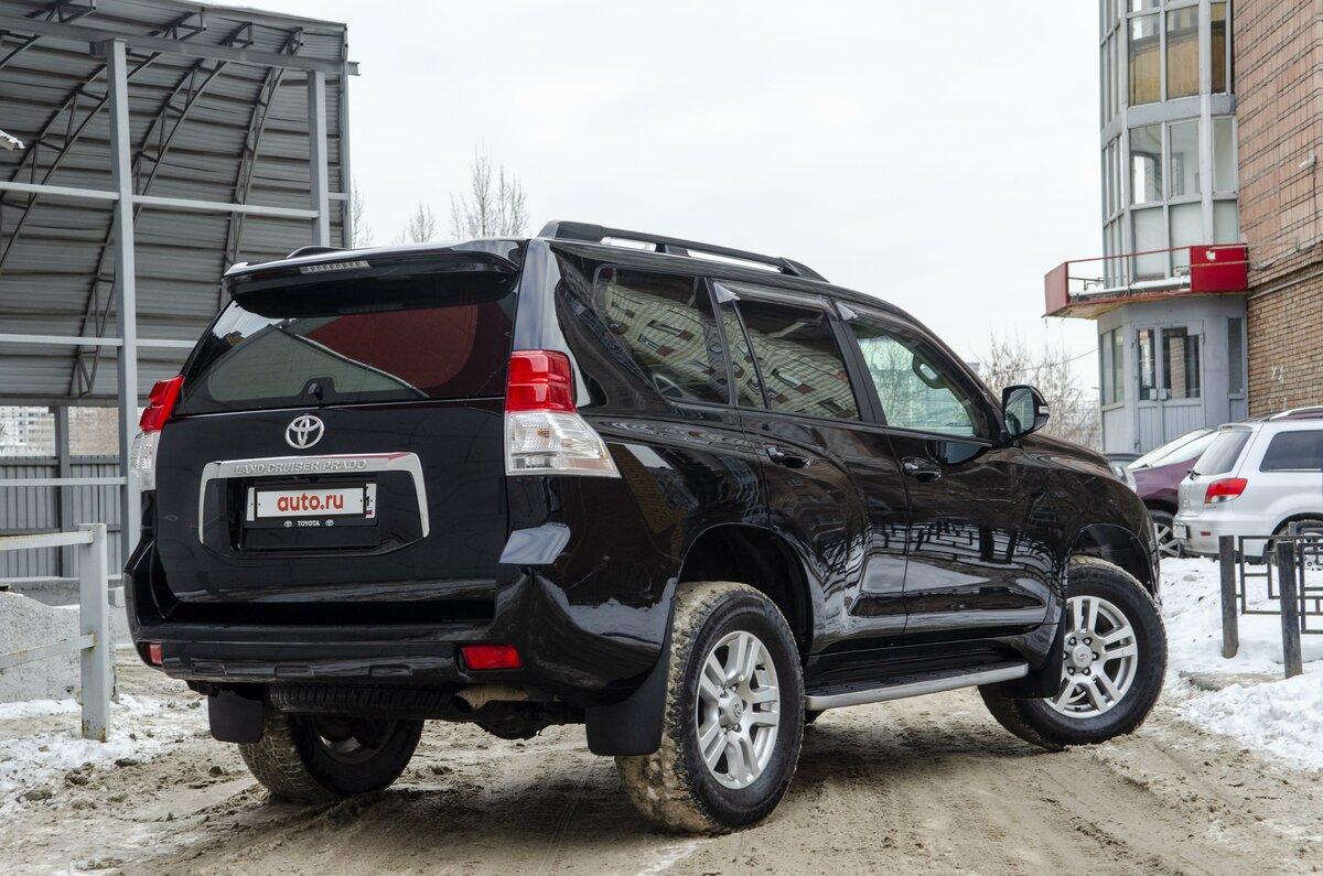2012 Toyota Land Cruiser Prado  150 Series, чёрный - вид 3