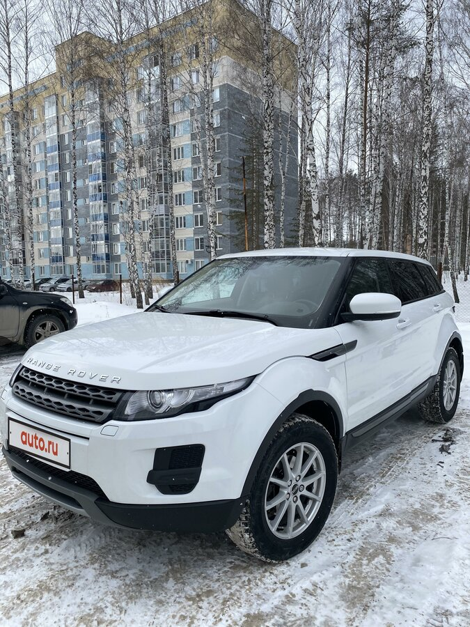 2012 Land Rover Range Rover Evoque  I 6-speed, белый - вид 4