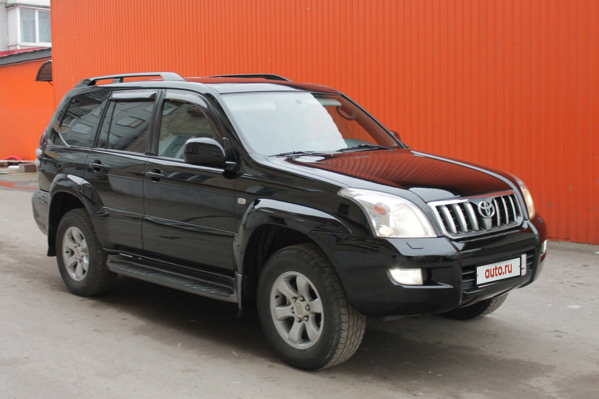 2005 Toyota Land Cruiser Prado  120 Series 5-speed, чёрный