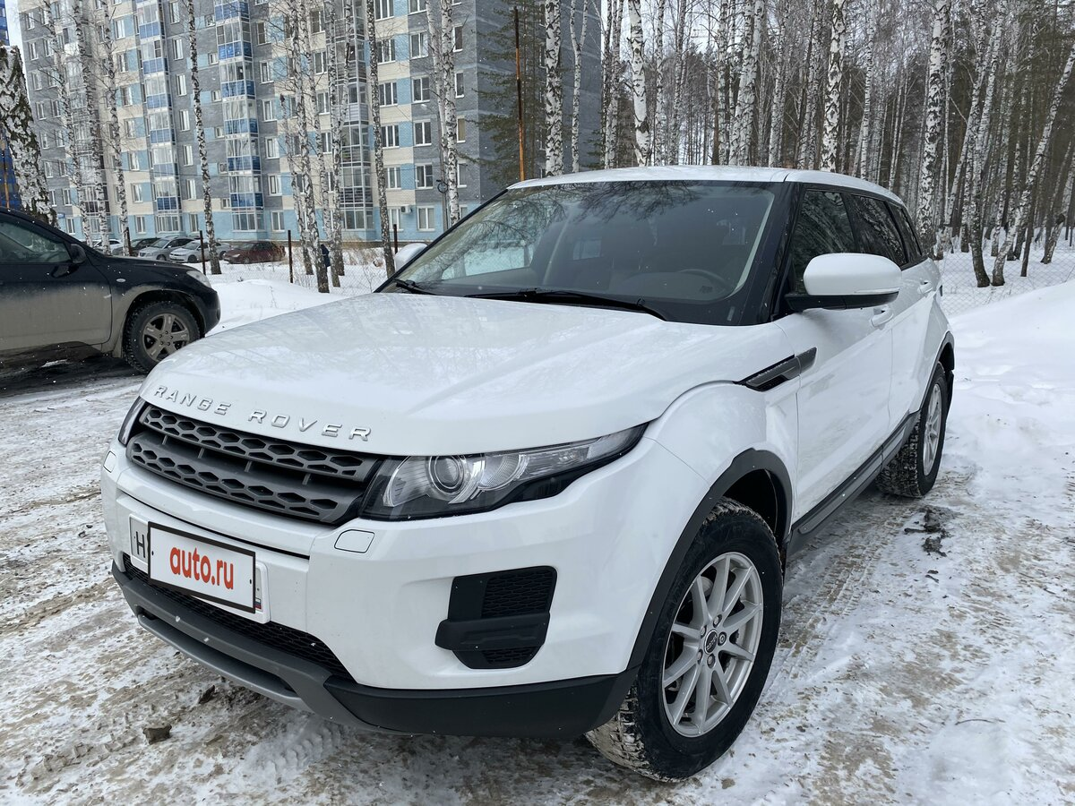 2012 Land Rover Range Rover Evoque  I 6-speed, белый