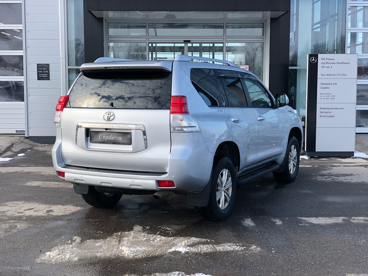 2013 Toyota Land Cruiser Prado  150 Series, серебристый - вид 1