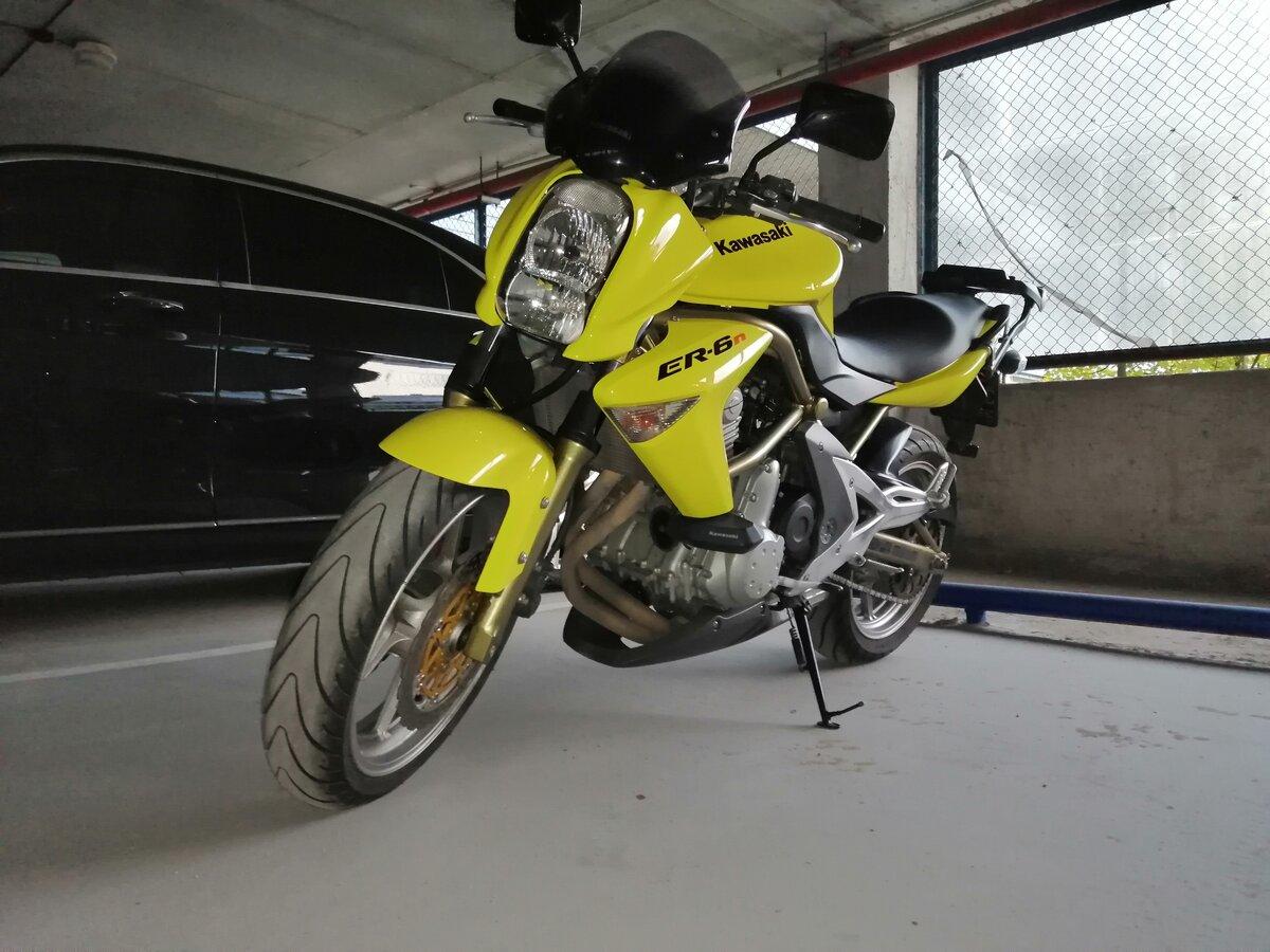Купить б/у Kawasaki ER-6n инжектор 6 передач в Истре