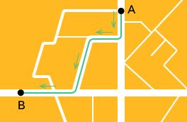 Как прокладывается путь на Яндекс.Картах