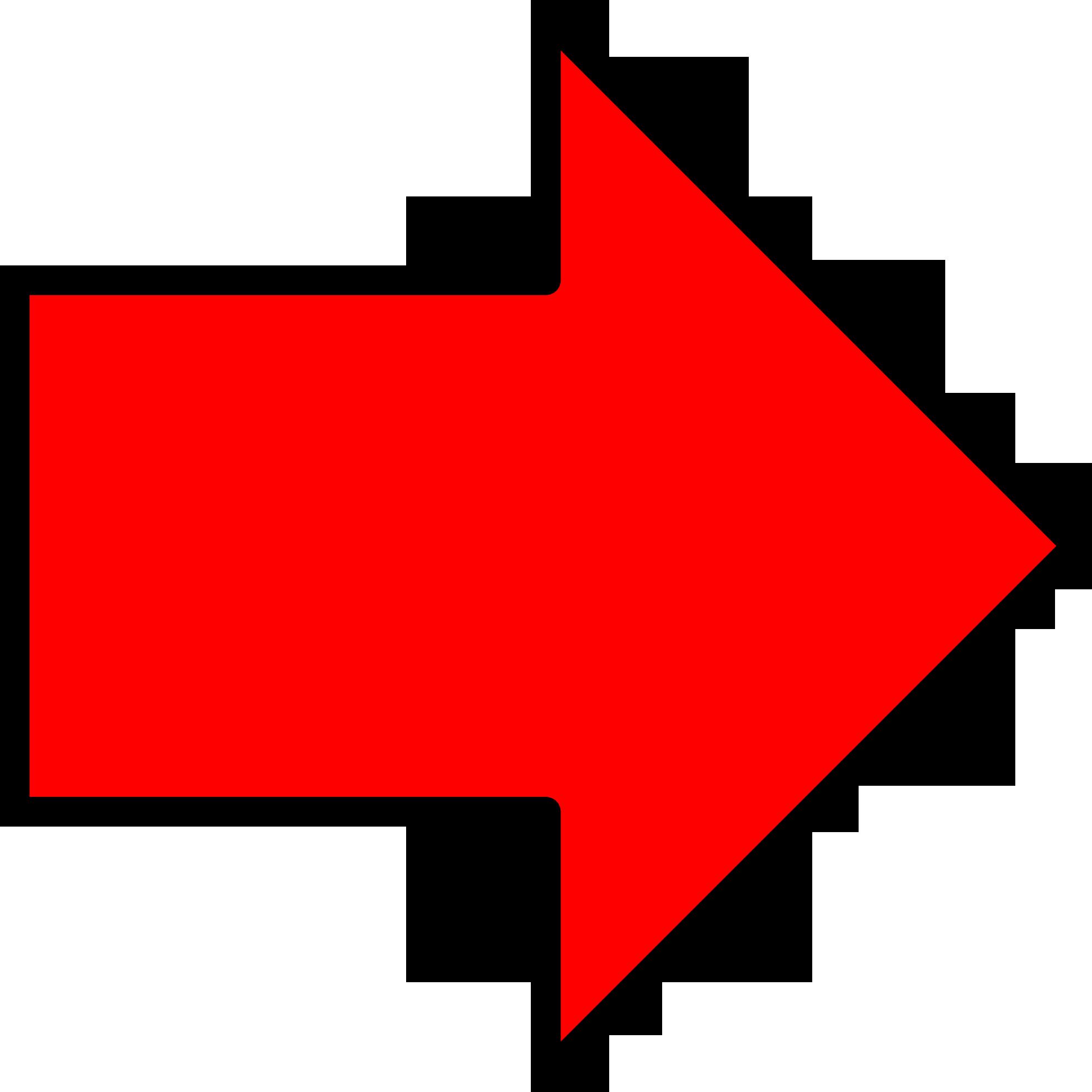 Картинки стрелок красных