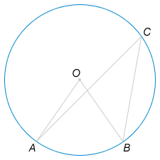Центральный угол на ... больше острого вписанного угла, опирающегося на ту же дугу окружности. Найдите вписанный угол.