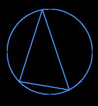 Треугольник ... вписан в окружность. Известны два его угла ... Найдите градусную меру меньшей дуги ...