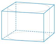 Прямоугольный параллелепипед описан около цилиндра, радиус основания которого равен .... Объем параллелепипеда равен ....