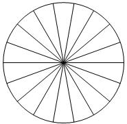 Колесо имеет ... спиц. Углы между соседними спицами одинаковые.