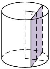 Радиус основания цилиндра равен ..., а его образующая равна .... Сечение, параллельное оси цилиндра, удалено от нее на расстояние, равное ....
