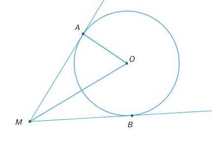 Из точки ... проведены касательные ... и ... к окружности. На рисунке точка ... – центр окружности, .... Найдите величину угла ...