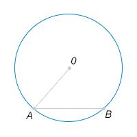 Точки ... и ... расположены на окружности с центром ..., при этом градусная мера дуги ... равна .... Найдите угол .... Ответ дайте в градусах.
