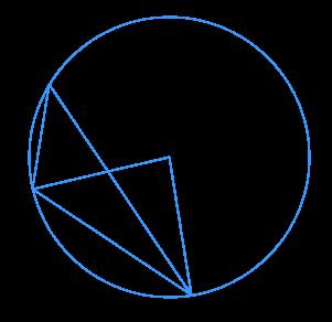 На рисунке точка ... – центр окружности, а треугольник ... – прямоугольный.