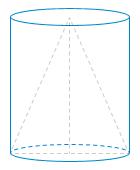 Конус с образующей равной ... вписан в цилиндр с диаметром основания равным ....