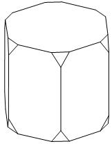 От деревянной правильной шестиугольной призмы отпилили все ее вершины.