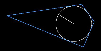 Найдите площадь описанного около окружности радиуса ... четырёхугольника ..., если ... и ....