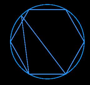 Правильный шестиугольник вписан в окружность. ... – произвольная точка окружности.