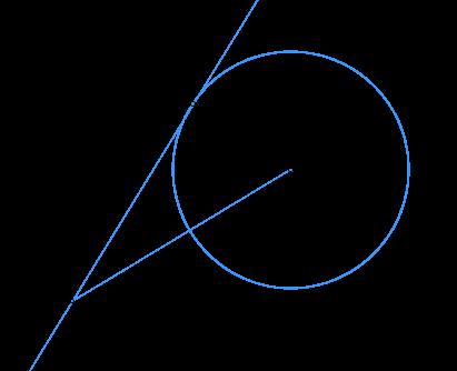 К окружности с центром ... проведена касательная .... Радиус окружности равен .... Расстояние от точки ... до центра окружности равно ....