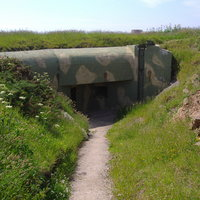 Fort Hommet 10.5 cm Coastal Defence Gun Casement Bunker