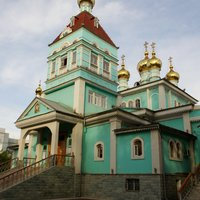 Saint Nicholas Orthodox church in Almaty