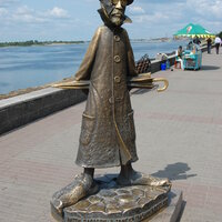 Sculpture of Anton Chekhov in Tomsk