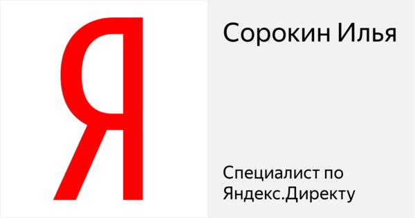 Сорокин Илья - Сертифицированный специалист