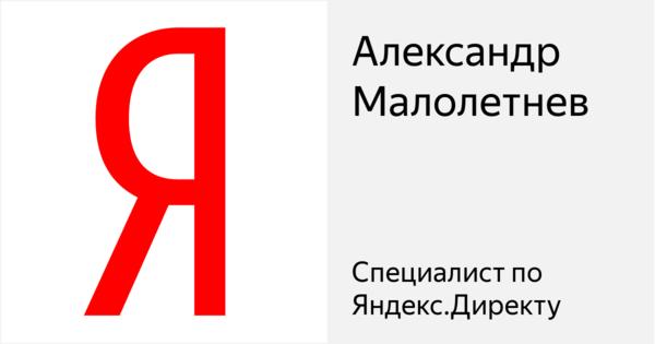 Александр Малолетнев - Сертифицированный специалист