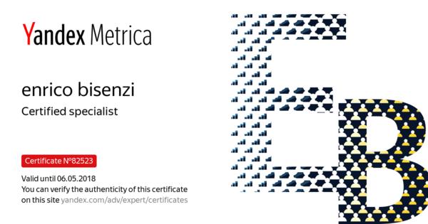 enrico bisenzi - Certified specialist