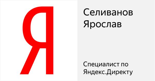 Селиванов Ярослав - Сертифицированный специалист