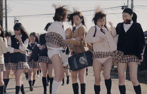 Японские школьницы поймали насильника