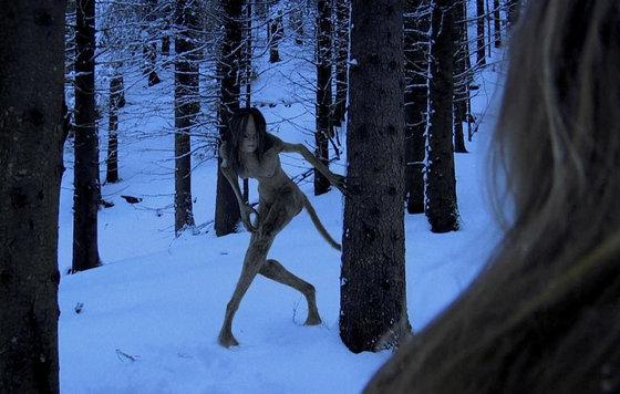 Голые парни в зимнем лесу Вам