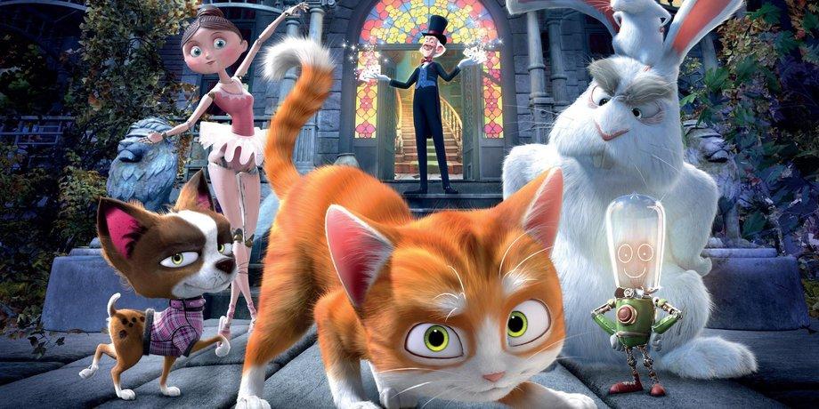 Кот гром и заколдованный дом на киного нет