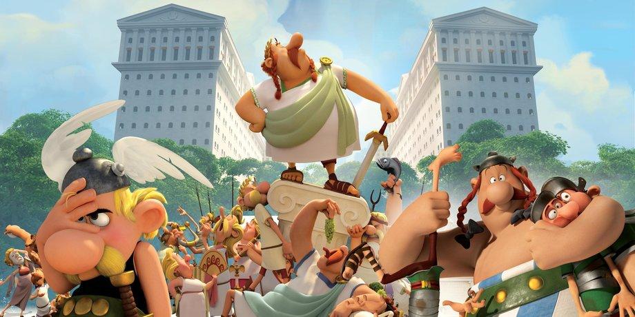 астерикс и обеликс и земля богов мультфильм смотреть