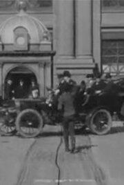 Поездка по рыночной улице перед пожаром (1906) полный фильм