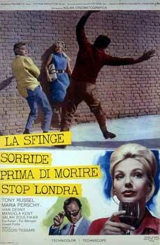 La sfinge sorride prima di morire - stop - Londra (1964)