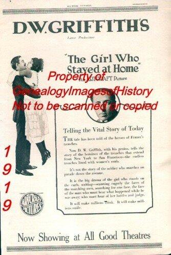 Девушка, оставшаяся дома (1919)